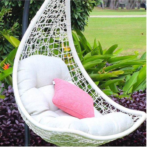 Furnist Sky L - Furniture Outside Hanging Swing Chair- White
