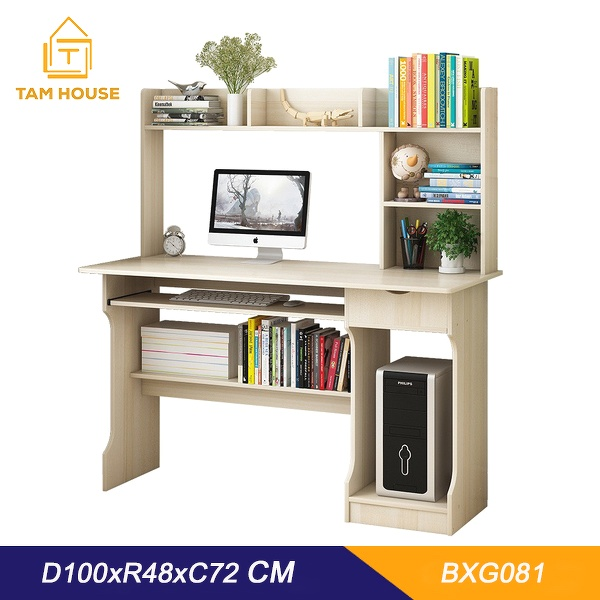 Interiors - Furnitures - Tam House Working desk with luxury bookshelf - B81