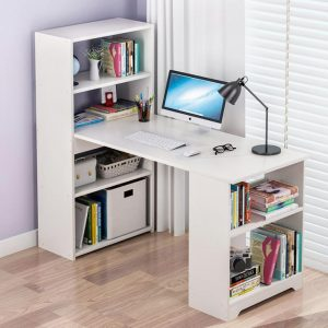 Tam house Working table with high-class, modern bookshelf - BXG034 - White