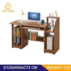 Working desk with multi-functional bookshelf Tam House BXG047 (120 40CM) GOLD