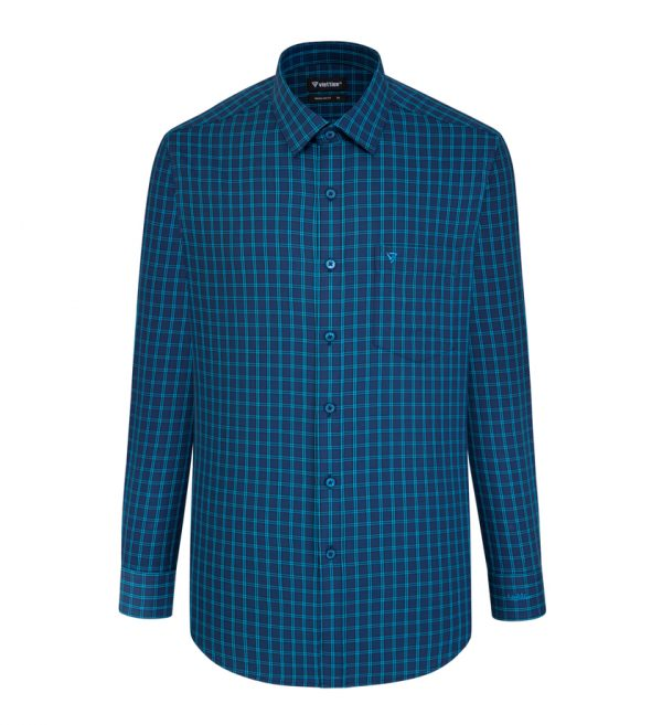 Green Caro Shirt - Men Shirt - Long Hand Shirt 8N2704BT5-L4V