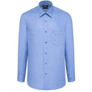 Blue Shirt - Men Shirt - Long Hand Shirt 1N2611BT5 - L4V