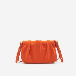 The Pearl Shell Collapsible Hand Bag - SAT 0275 - Orange
