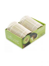Box of 2 Bamboo Wrapped Candles-Decorative Candles-NQM 2301