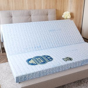 Coconut Fiber Mattress - EUCOCO ORGANIC - White Blue