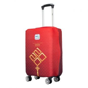 Fashionable Suitcase Happy New Year Size L - Patterned Suitcase