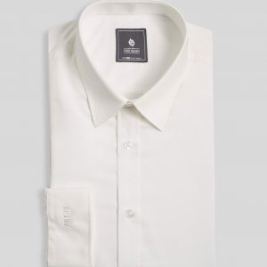 Ivory White Shirt - Men Shirt - Long Sleeve SMD.1042