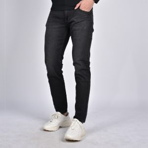 Men's Jeans-Dark Gray Jeans-QJSL22562
