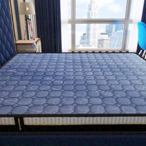 Natural Rubber Mattress - EUFLEX AIR - Pattern Dark Blue