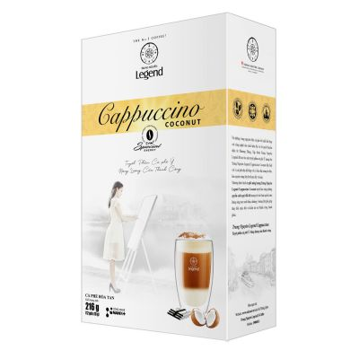 Trung Nguyen Legend Cappuccino Coconut 12 Sticks 18gr - Energy Coffee