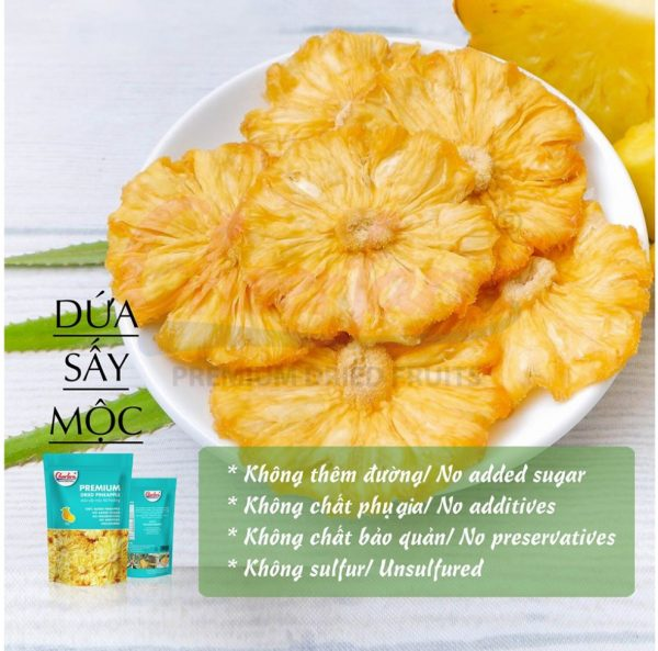 Queen's Dried Pineapple - 100g - Natural Dried Fruit