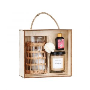 Glass Candle Box - D10H18 - Gift Candles