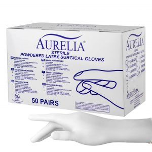Latex-Surgical-Gloves-With-Sterilized-Powder-HTCGloves