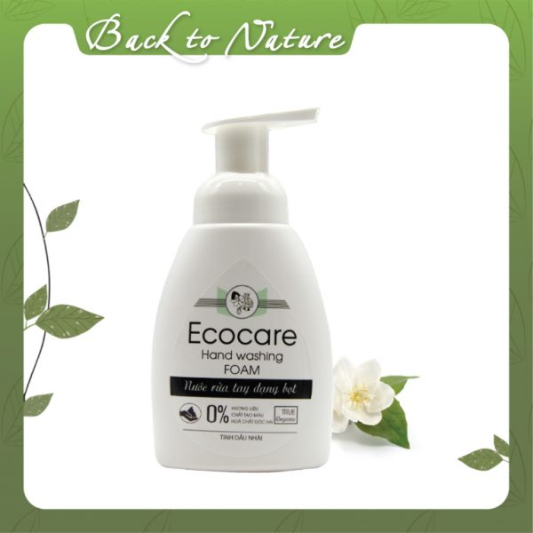 Organic hand sanitizer in the form of jasmine essential oil foam - Ecocare