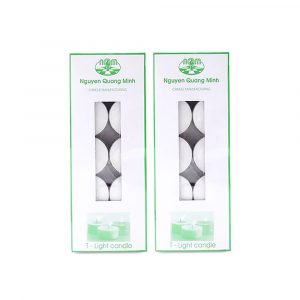 Tealights Candle Box- White- 10 pieces- NQM 2561